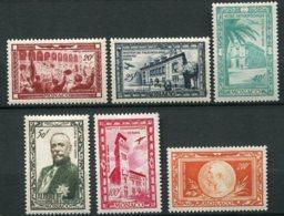 9210  MONACO  PA 36/41 **  Centenaire De La Naissance Du Prince Albert 1er   1949  TB - Poste Aérienne