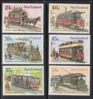 New Zealand 1985 MNH Scott #818-#823 Horse Tram, Cable Car, Steam, Electric Trains - Nouvelle-Zélande