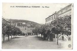 PONTCHARRA Sur TURDINE (cpa 69)  La Place   - L 1 - Pontcharra-sur-Turdine