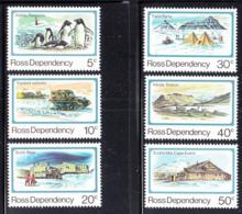 Ross Dependency 1982 MNH Scott #L15-#L20 Scott Base, 25th Ann Penguins, Vehicles, Camp, Hut - Ross Dependency (New Zealand)