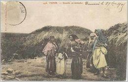 CPA TUNISIE - TUNIS - Gourbi De Nomades - 03/11/1905 - Tunisia