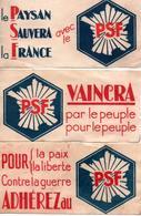TRACT #36 PAPILLON POLITIQUE ANNEES 30 PSF LA ROCQUE - Non Classés