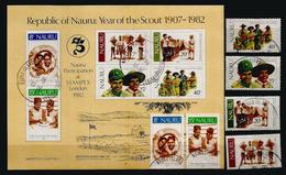 Le Scoutisme à L'île NAURU (Océan Pacifique)  Série  + Bloc-feuillet Oblitérés,  1 ère Qualité - Nauru