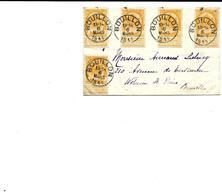 SH 0217. N° 54 (5) C1c BOUILLON 6 MARS 1911 S/petite Lettre V. Woluwé-St Pierre. TB - 1893-1907 Wapenschild
