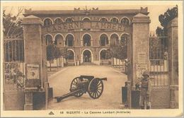 CPA TUNISIE - BIZERTE - La Caserne Lambert ( Artillerie ) - Ed. CAP N°68 - Animée - Tunisia