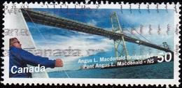 Canada - Scott #2102 Angus L. Macdonald Bridge, Nova Scotia / Used Stamp - Bridges