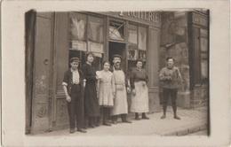 CPA PHOTO 78 SAINT GERMAIN EN LAYE 42 Rue De Paris Commerce Devanture Epicerie Fruiterie Maison LEBRUN 1922 Rare - St. Germain En Laye