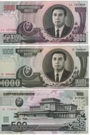 North KOREA FulL Set  9 Notes  5 To 5'000 Won   (1992-1998-2006)   P39 To P48   UNC - Corée Du Nord