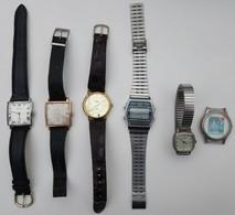 LOT DE 6 MONTRES ANCIENNES - Watches: Old