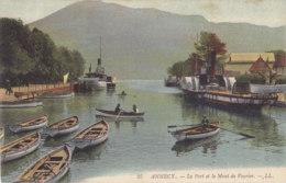 Annecy (74) - Le Port Et Le Mont Veyrier - Annecy