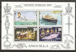 Anguilla  1977  SG  273  Silver Jubilee  Miniature Sheet  Unmounted Mint - Anguilla (1968-...)