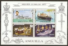 Anguilla  1977  SG  302  Royal Visit Miniature Sheet Unmounted Mint - Anguilla (1968-...)
