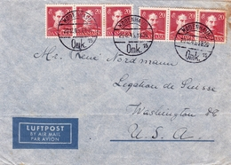 Lettre Copenhague Julen 1945 København Danemark Kongeriget Danmark Washington USA - 1913-47 (Christian X)