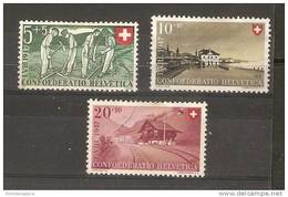 Switzerland - 1946 National Fete MH  SG 467-9 - Neufs