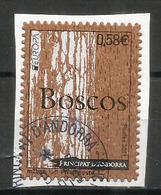 ANDORRA. EUROPA 2011.Les Forêts. Timbre En Bois (liège) Adhesif, , Oblitéré 1 ère Qualité, Sur Fragment Lettre - French Andorra