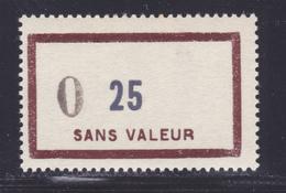 FRANCE FICTIF N° F137 ** MNH Timbre Neuf Sans Charnière, Surcharge Nouveau Franc, TB (lot5) - Fictifs