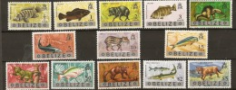 Belize  1974  SG 362-74  Animals And Fish  Unmounted Mint - Belize (1973-...)