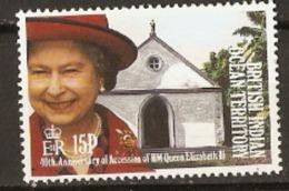 British Indian Ocean Territories 1992 SG 119 Q E 11 Accession To The Throne   Unmounted Mint - British Indian Ocean Territory (BIOT)