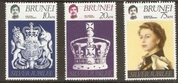 Brunei  1977 SG 264-6  Silver Jubilee    Unmounted Mint - Brunei (1984-...)