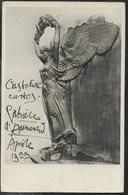 AUTOGRAFO GABRIELE D'ANNUNZIO APRILE 1923 SU CARTOLINA PRO MONUMENTO AI CADUTI - TRAVERSETOLO - Autografi