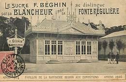 - Dpts Div.- Ref-AD846- Somme - Amiens - Exposition 1906 -pavillon Raffinerie Beghin - Sucre - Arras 1904  Pas De Calais - Amiens