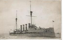 Real Photo Postcard, First World War Period, British, Battle Ship Hms Warrior. - Guerre