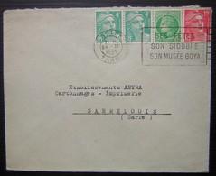 Castres 1949 Lettre Pour Sarrelouis (Sarre) De Edmond Klein, Oblitération Ses Fêtes Son Sidobre Son Musée Goya - 1921-1960: Periodo Moderno