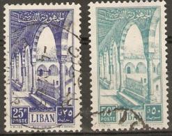 Lebanon   1954 SG 495,7,  Fne Used - Lebanon