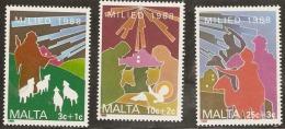Malta 1988 SG  839-41 Christmas  Unmounted Mint - Malte