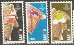 Malta 1988 SG  836-8  Olympics   Unmounted Mint - Malta