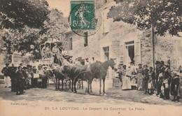 07/ La Louvesc - Le Départ Du Courrier - La Poste - Diligence Trés Beau Plan Trés Bon état éceite 1910- - La Louvesc