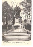 Bruxelles-1905-Place Du Petit Sablon-Statue Des Comtes D'Egmont Et De Hornes-Edit. D.V.D. DVD-11044-précurseur - Marktpleinen, Pleinen