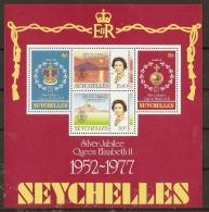 Seychelles  1977 SG 401  S Jubilee Miniature Sheet Unmounted Mint - Seychelles (1976-...)