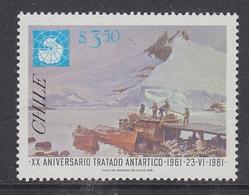 Chile 1981 Antarctic Treaty 1v ** Mnh (40979B) - Chile