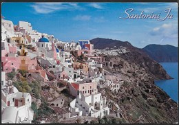 GRECIA - SANTORINI - PANORAMA - FORMATO GRANDE 17X 13 - VIAGGIATA 2012 - Grecia