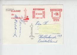 """PAESI BASSI  1960 - Annullo Meccanico Illustrato  """"bezoekt De Euromast"""" - Period 1949-1980 (Juliana)"""