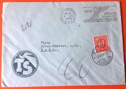 Schweiz Suisse 1939: Brief O ZÜRICH 1.III.1939 LANDESAUSSTELLUNG Mit Portomarke Nr.60 (Zu CHF 15.00) - Taxe
