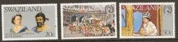 Swaziland 1977  SG 268-70  Ilver Jubilee  Unmounted Mint - Swaziland (1968-...)