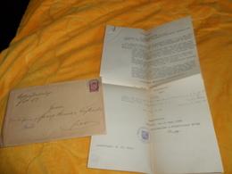 ENVELOPPE + DOCUMENTS DE 1926. / AUSFERTIGUNG..ALLEMAGNE . A IDENTIFIER / CACHETS + TIMBRE - Storia Postale