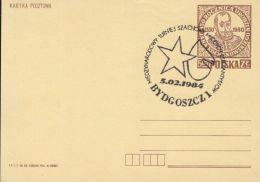 73486- BYDGOSZCZ CHESS TOURNAMENT, SPECIAL POSTAMRK ON POSTCARD STATIONERY, 1984, POLAND - Scacchi