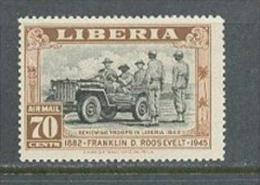 1945 LIBERIA AIRMAIL - FRANKLIN ROOSEVELT MICHEL: 382 MNH ** - Liberia