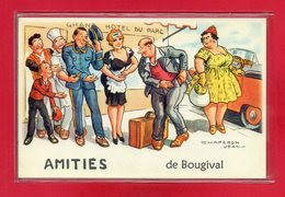 "78-CARTE POSTALE HUMOURISTIQUE "" BOUGIVAL "" - Bougival"