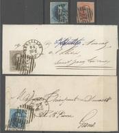 De 10 Lijnenstempel (dik) Van Bruxelles Op Zegels N° 6/8 Mooi Lotje - 1849-1865 Medallions (Other)