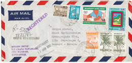 Bangladesh Registered Air Mail Cover Sent To Denmark 12-6-1982 Topic Stamps - Bangladesh