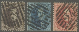De 10 Lijnenstempel (dik) Van Bruxelles Op Zegels N° 14/16 Tanding 121/2  Mooi Lotje - Belgium