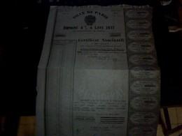 Action Obligation Emprunt   A  Lots De 4/100    Ville De Paris  1931 - Shareholdings