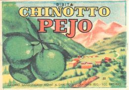 ETIQUETA    CHINOTTO PEJO (AGUA MINERAL DE PEJO Y NARANJA AMARGA - Publicidad