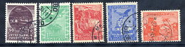 YUGOSLAVIA 1934 Airmail Set, Used.  Michel 278-82 - 1931-1941 Kingdom Of Yugoslavia