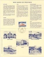 France Rep. Française 1981 Encartage - Gares De Province / Railway Station / Bahnhof / Treinstation - Treinen