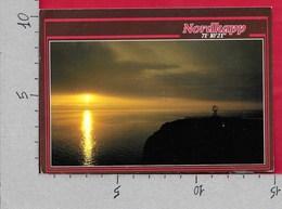 CARTOLINA VG NORVEGIA - Midnightsun At Northcape - 10 X 15 - ANN. 1994 TARGHETTA NORDKAPP - Norvegia